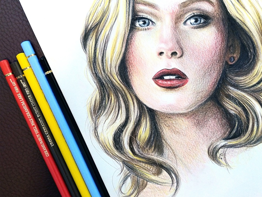 Colored pencil portrait