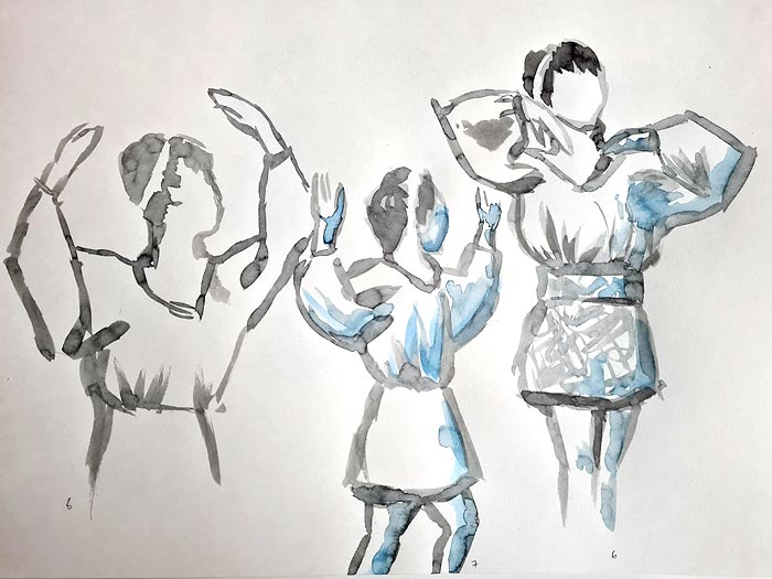 croquis, quick live model drawings